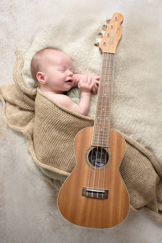 ukelele baby photo shoot