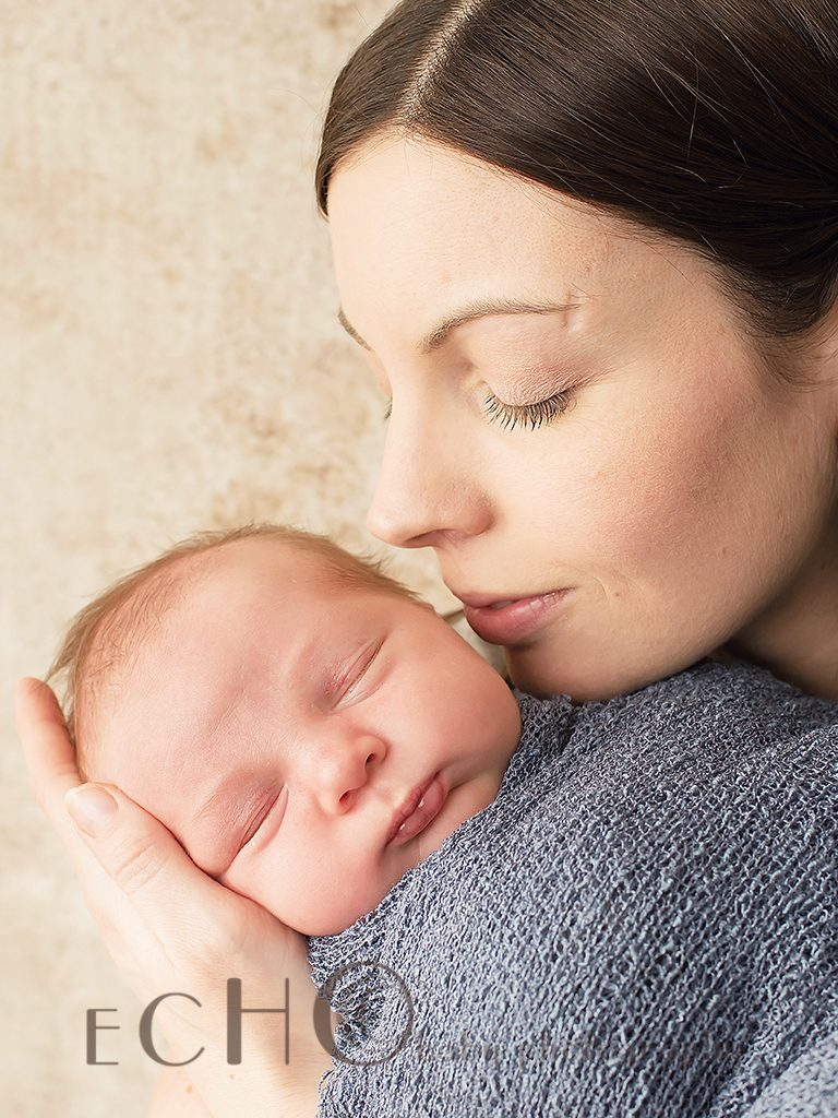 mother and baby newborn session